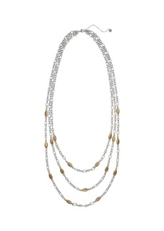 The Sak Three Row Necklace