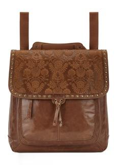The Sak Ventura Embossed Leather Convertible Medium Backpack