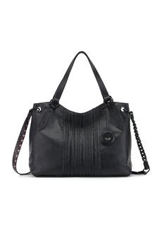 The Sak Woven Leather Shoulder Bag