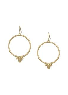 The Sak Trefoil Hoop Drop Earrings