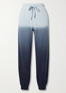The Upside Alena Embroidered Ombre Cotton-jersey Track Pants