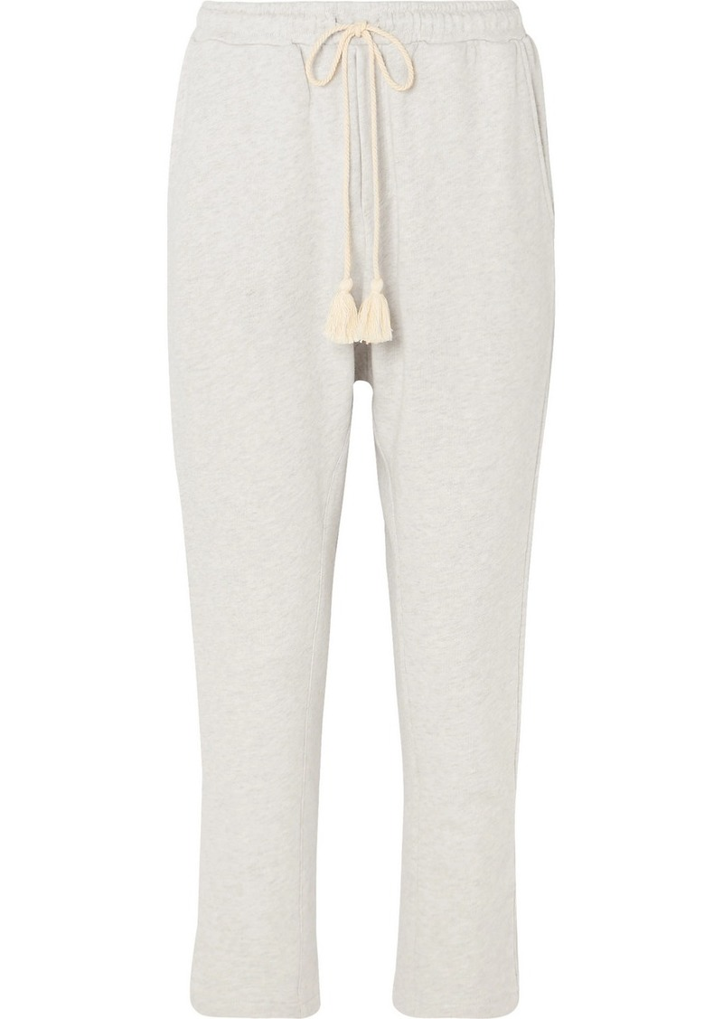 The Upside Byron Tasseled French Cotton-terry Track Pants