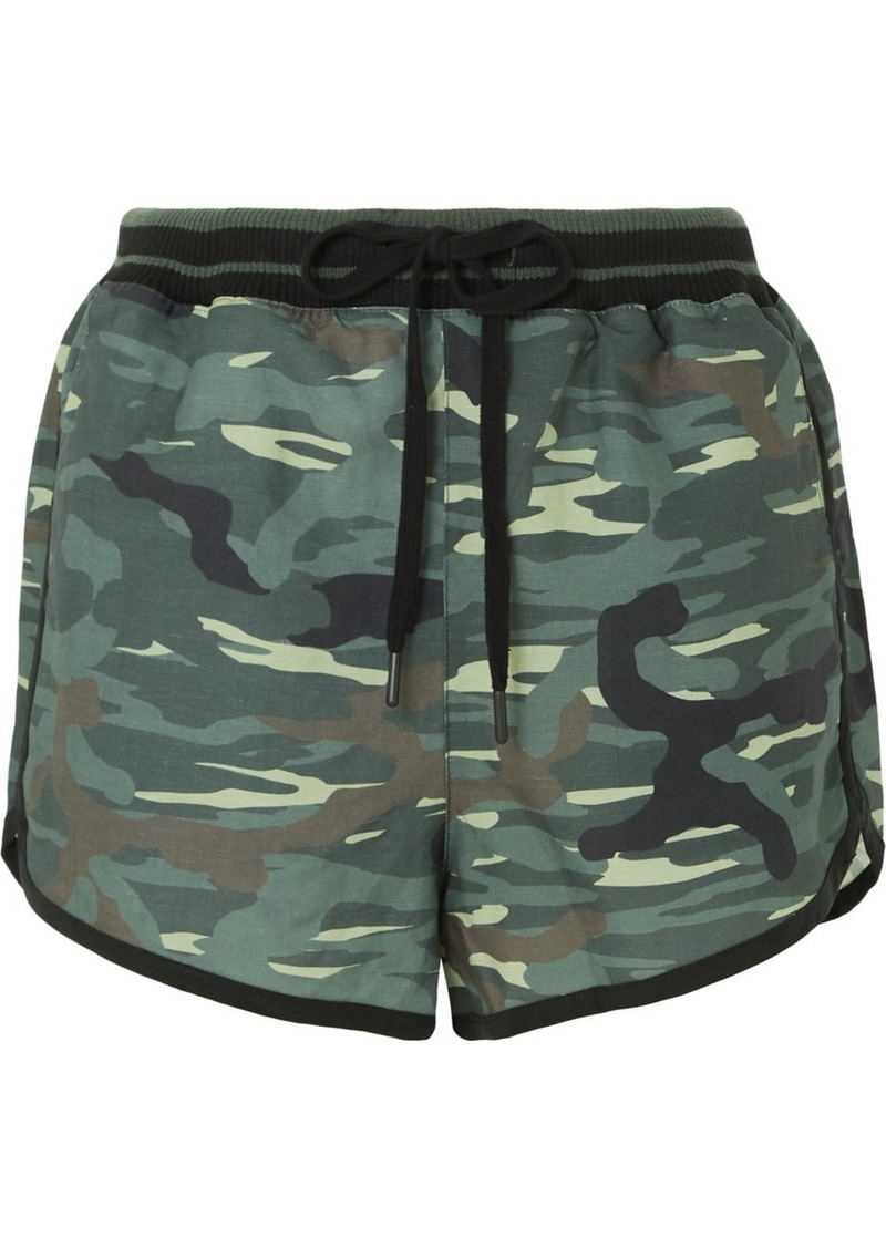 The Upside Camouflage-print Linen And Tencel-blend Shorts