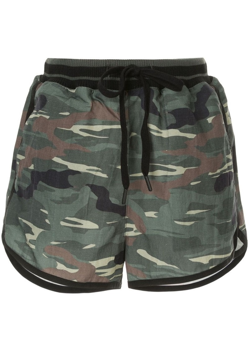 The Upside camouflage print shorts
