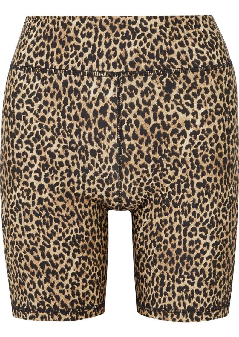 The Upside Leo Leopard-print Stretch Shorts