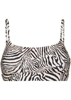The Upside Natacha zebra-print sports bra