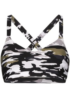 The Upside Sophie camouflage sports bra