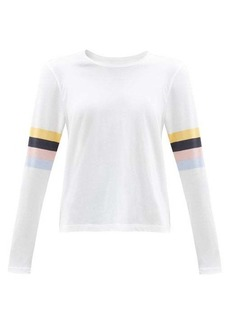 The Upside Emma striped cotton-jersey long-sleeved T-shirt