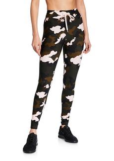 The Upside Forest Camo-Print Midi Yoga Pants