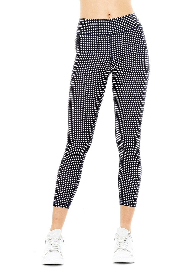 The Upside Gingham Midi Yoga Pants