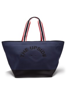 The Upside Logo-embroidered neoprene tote