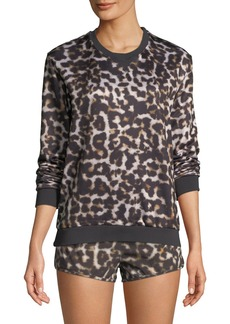 The Upside Lulu Leopard-Print Crewneck Sweatshirt