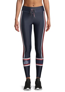The Upside Makeba Striped Drawstring Yoga Pants