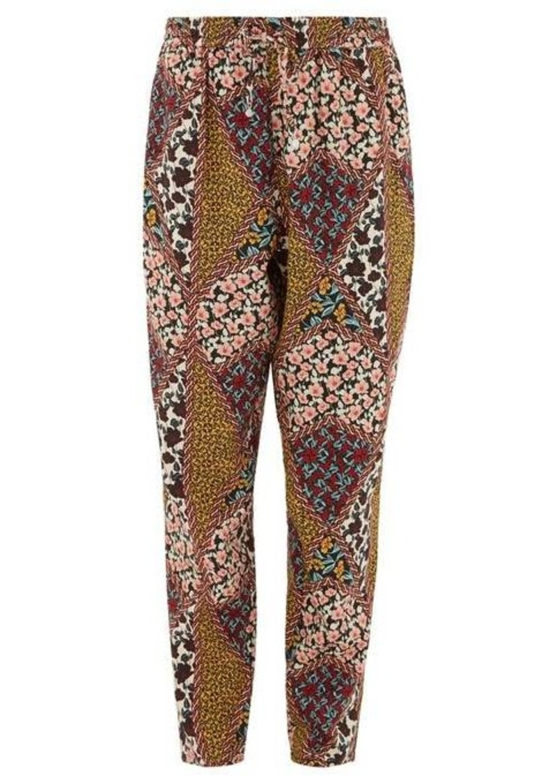 The Upside Poppy floral-print crepe trousers