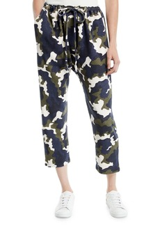 The Upside Rafiki Cropped Camo-Print French Terry Jogger Pants
