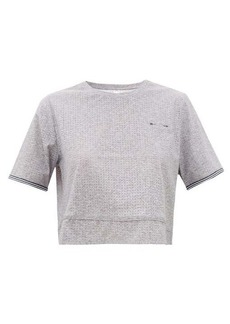 The Upside Whitney cropped stretch-technical T-shirt