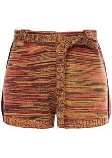 The Upside Woman Belted Knitted Shorts Multicolor
