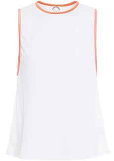 The Upside Woman Dri Release Sarah Printed Cotton-mesh Tank White