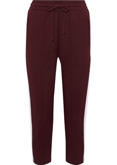 The Upside Woman Electric Ny Striped Cotton-blend Jersey Track Pants Burgundy