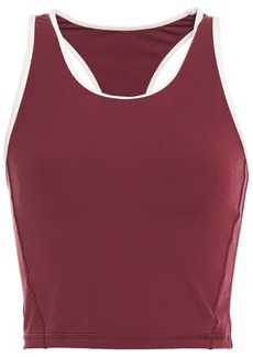 The Upside Woman Inge Cropped Stretch Top Claret