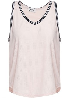 The Upside Woman Lea Perforated Stretch-jersey Tank Pastel Pink