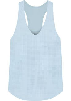 The Upside Woman Lilo Perforated Stretch-jersey Tank Sky Blue