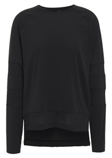 The Upside Woman Niki Dri Mesh-paneled Stretch-jersey Top Black