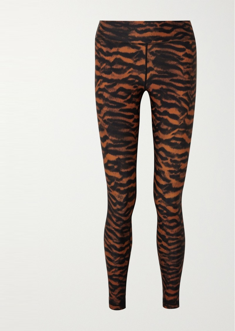 Tiger-print Stretch Leggings