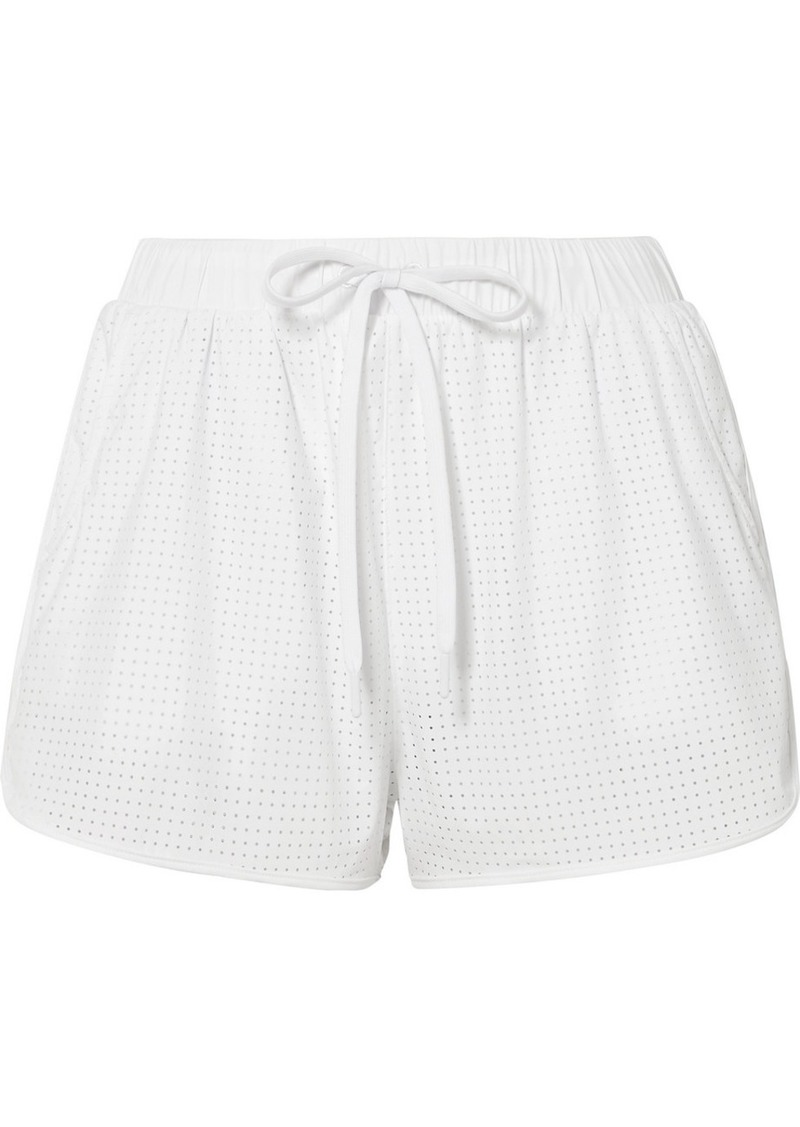 The Upside Track Perforated Shell Shorts