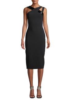 Theia Beaded Double-Strap Bodycon Dress