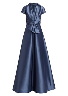 Theia Bow Shirt Gown