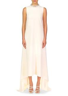 Theia Emery High-Low Maxi Shift Dress