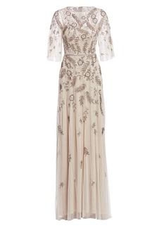 Theia Hand Beaded Ball Gown