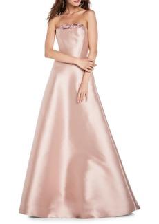 Theia Strapless Satin Ball Gown