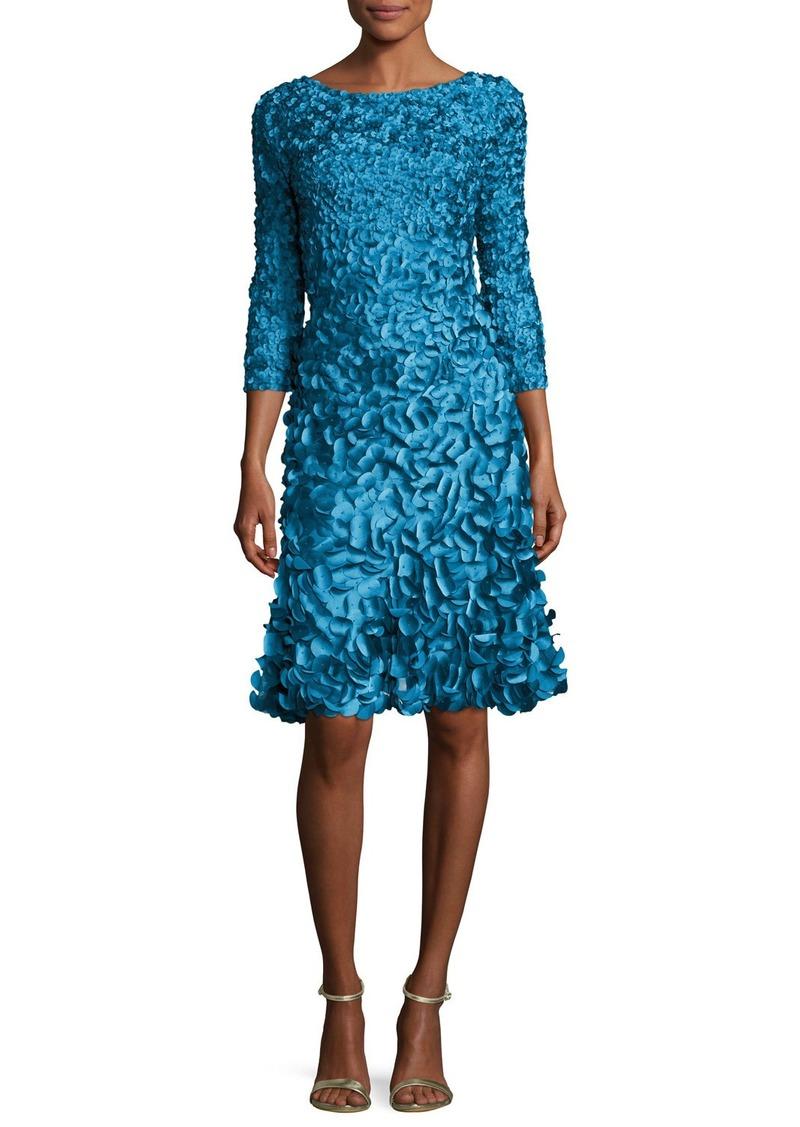 e4f8c320f11 On Sale today! Theia 3 4-Sleeve 3D Petal Cocktail Dress