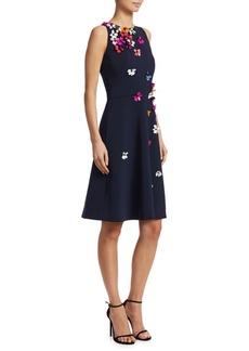 Theia 3D Floral Mini Dress