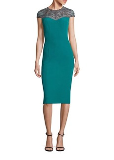 Theia Beaded Sheath Dress