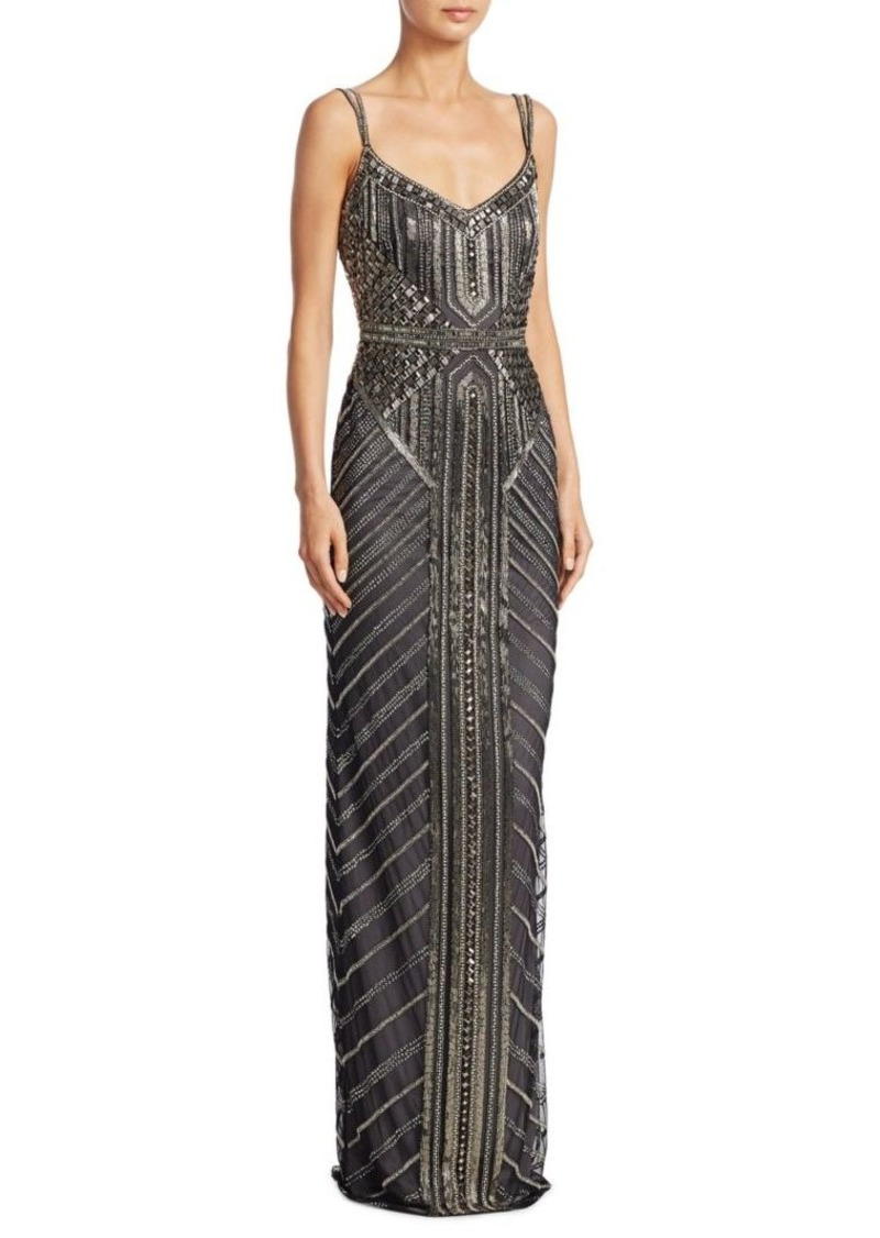 Theia Deco Beaded Gown | Dresses