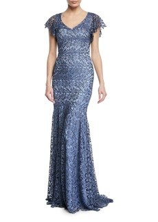 Theia Guipure Lace Mermaid Gown