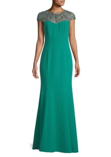 Theia Jewelled Crystal Evening Dress