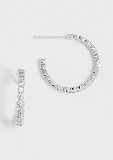 Theia Jewelry Bezel Hoop Earrings