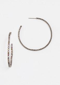 Theia Jewelry Bezel Large Hoop Earrings