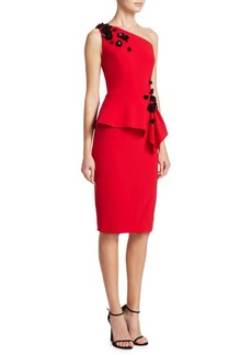 Theia One-Shoulder Cocktail Dress