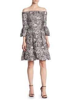 Theia Quartz Fit-&-Flare Dress