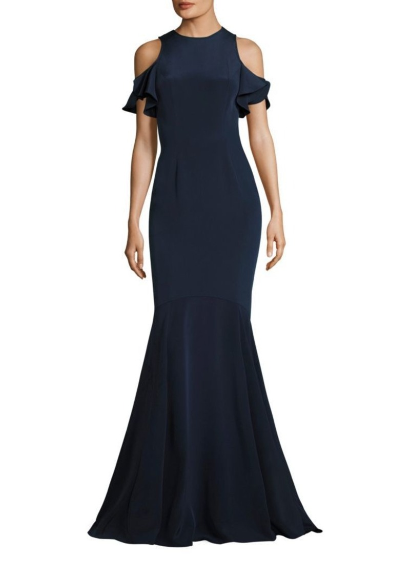 Theia Theia Ruffle Cold-Shoulder Mermaid Gown | Dresses