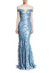 Theia theia sequin embellished off the shoulder gown abvba58ec16 a