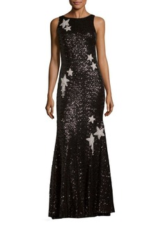 Theia Sequined Star Mermaid Gown