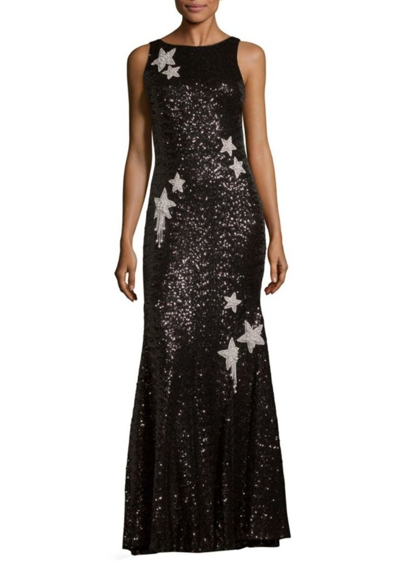 SALE! Theia Sequined Star Mermaid Gown