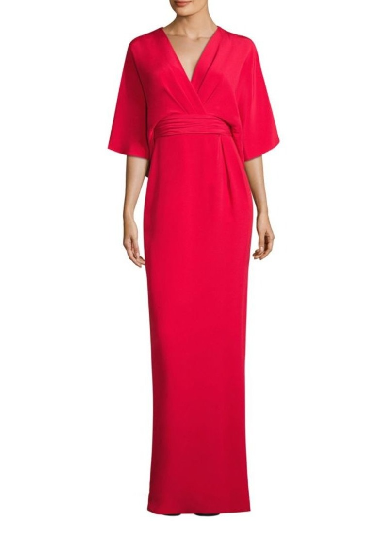 Theia Theia Solid Silk Blend Kimono Gown | Dresses - Shop It To Me