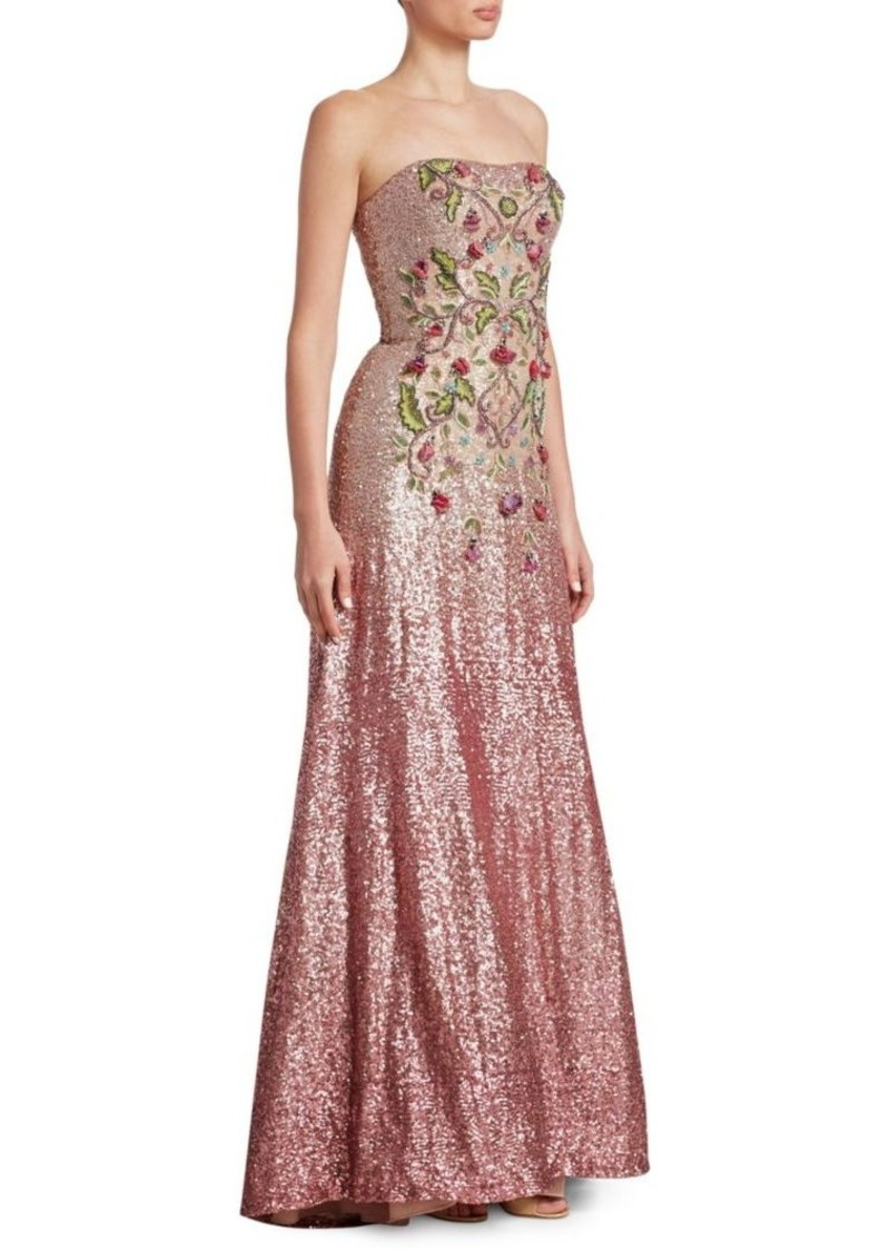 On Sale today! Theia Strapless Ombre Ball Gown - Shop It To Me